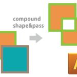 複合シェイプ(中マド)と複合パスの違い