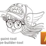 シェイプ形成&ライブペイントツールでイラストを描く